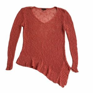 Eileen Fisher mauve pink loose knit sweater
